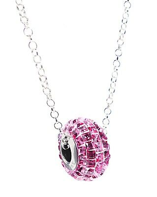 New! Ah! Jewellery® Genuine BeCharmed Swarovski® Pavé 15mm Rose Bead Necklace   • 29.99£