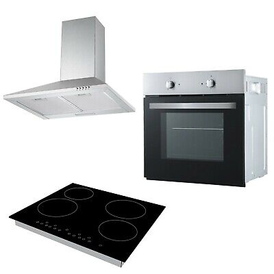 Cookology Fan Forced Oven, 60cm Touch Control Ceramic Hob & Cooker Hood Pack • 354.99£