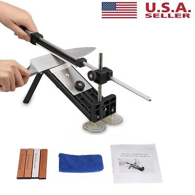$20.65 • Buy Fix-angle Knife Sharpener Professional Kitchen Sharpening System Kits W/4 Stones