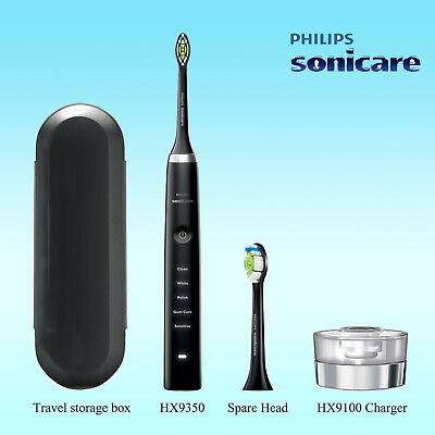 AU164.95 • Buy Philips Sonicare DiamondClean Electric Toothbrush HX9350 Black W/o Retail Box