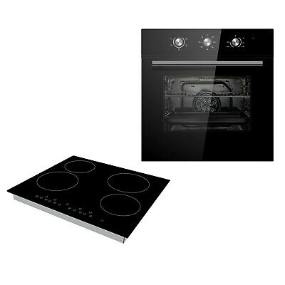 Cookology Black Electric Fan Forced Oven & 60cm Touch Control Ceramic Hob Pack • 319.99£