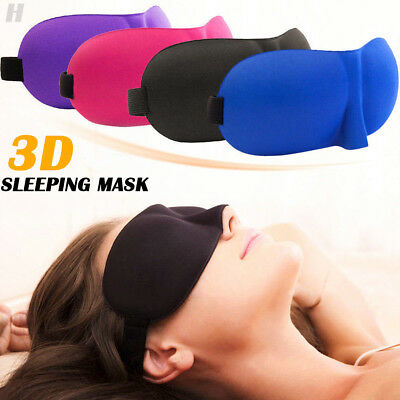 AU5.26 • Buy 3D Soft Sleeping Eye Mask Blindfold Sleep Travel Shade Relax Cover Light Blinder