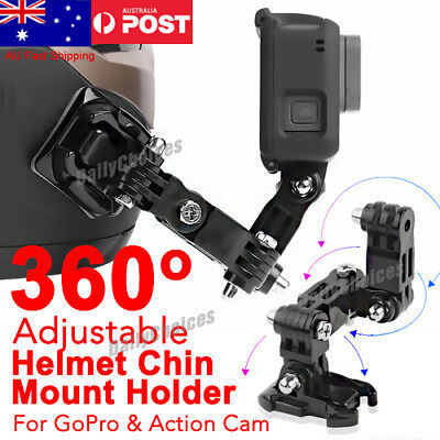 AU18.60 • Buy Motorcycle Helmet Chin Mount Holder For GoPro Hero6/5/4 XiaoYi Action Camera Hot