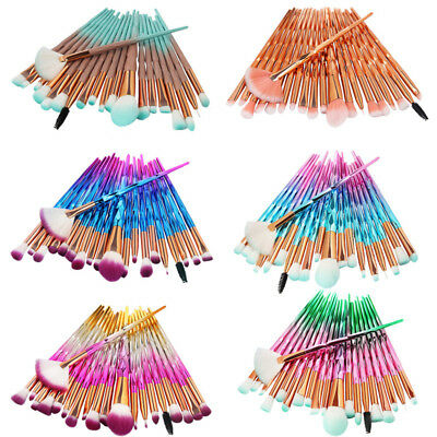 AU12.97 • Buy 20PCS Unicorn Makeup Brush Set Powder Blush Eyeshadow Eyeliner Lip Brush Tool