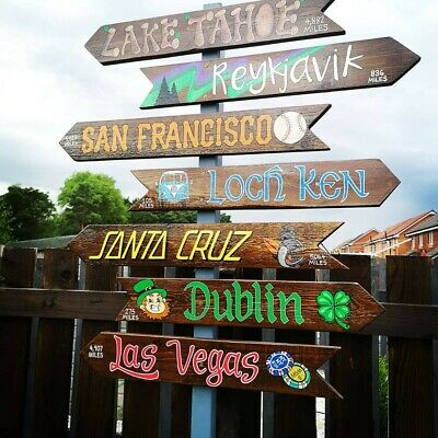 Handpainted Signs & Plaques Garden Tiki Mancave House Name Signwriter Wedding • 25£