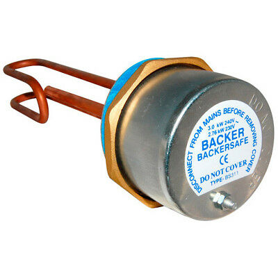 Immersion Heater & Thermostat. Various Lengths. Backer Brand • 18.30£