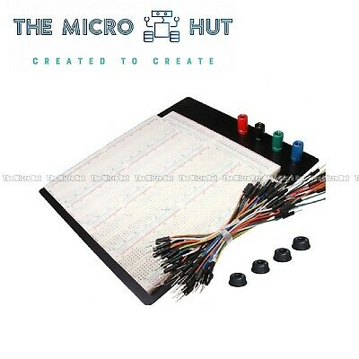 £23.95 • Buy 3220 Point Solderless Prototyping Large Breadboard 65pc Jumper Wires - 420 830