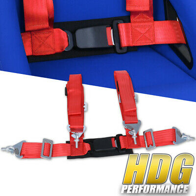 $ CDN30.26 • Buy Universal 2  Wide Red 4 Point Safety Racing Seatbelt Harness Strap W/ Buckle