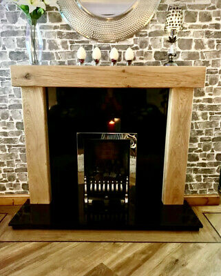 £289 • Buy Oak Fire Surround *** CUSTOM MADE SIZES *** ***FIXED PRICE***  Fireplace  Mantle