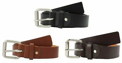 £6.95 • Buy Belt Mens Leather Jeans Trousers 1.5  Heavy Buckle Forest Belts Thick Up To 4XL