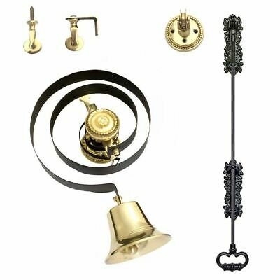 Traditional Butlers Bell Kit With Black Iron Pull And Nylon Cord • 82£