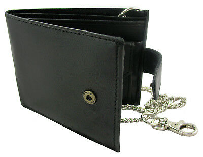 Scan Proof RFID Leather Wallet For Men With Belt Chain Black Or Brown • 8.99£