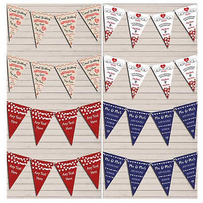Personalised Wedding Anniversary Bunting Party Flag Banner Garland Decoration • 7.29£