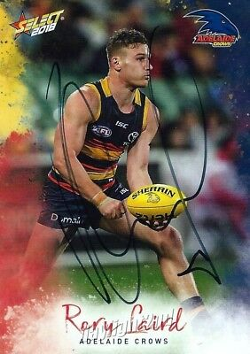 AU9.99 • Buy ✺Signed✺ 2018 ADELAIDE CROWS AFL Card RORY LAIRD