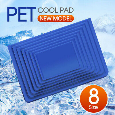 AU17.49 • Buy Cool Gel Mat Dog Cat Bed Non-Toxic Cooling Dog Summer Pad 7 Sizes Pet FAST POST