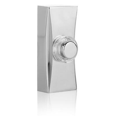 Byron Illuminated Door Bell Wall Mounted Wired Lit Push - Chrome Plated     • 11.74£