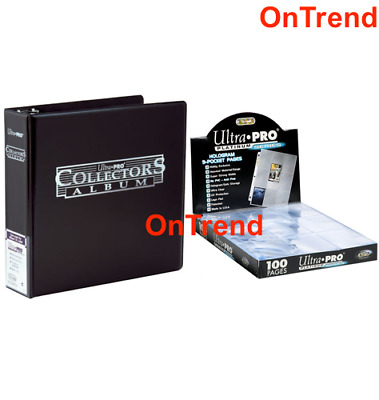 AU73.95 • Buy Ultra Pro 3 Ring Black Binder Album +100 Platinum 9 Pocket Pages Sleeves Pokemon