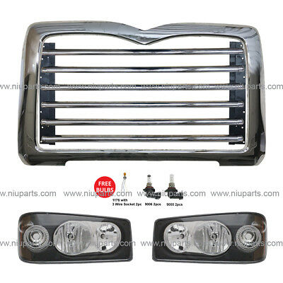 $539 • Buy Metal Grille With Surround Chrome And Headlight LH & RH (Fit: Mack GU713)