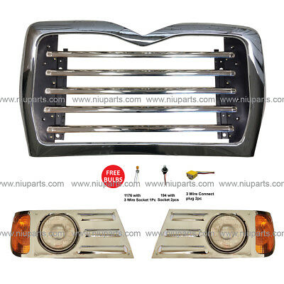 $509 • Buy Grille Chrome And Headlight Driver And Passenger Side (Fit: Mack CV713)