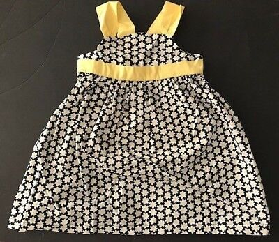 $19.99 • Buy Gymboree NWT BEE CHIC Flower Dress Yellow Navy White Poplin Girls 3 3T