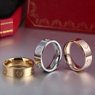 AU17.99 • Buy Unisex Love Ring Titanium Steel Men Women Design Gold Filled Screw Size 5-11