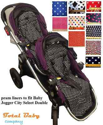 Buggy  Liner To Fit For Baby Jogger City Select Double • 38£
