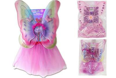 £6.49 • Buy Childrens Girls 4 Pc Fairy Dress Up Set - Assorted Designs - Pretend Play Party
