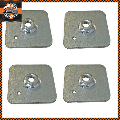 Seat Belt Harness Eye Bolt Backing Mounting Plate 7/16 Thread UNF X4 • 5.91£