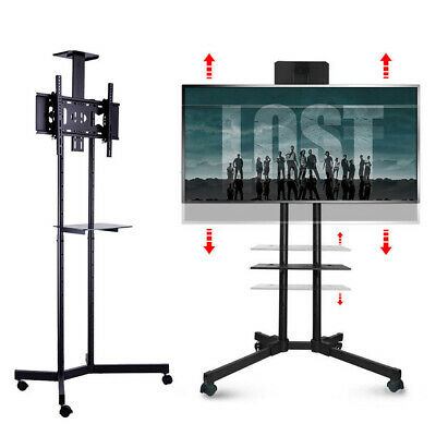 AU102.85 • Buy Mobile Cantilever TV Stand Cart Floor Stand TV Mount Bracket W/ Wheel And Shelf