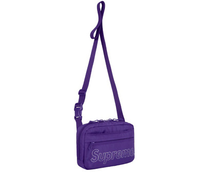 $ CDN232.21 • Buy Supreme Shoulder Bag Purple NEW 100% Authentic SS18