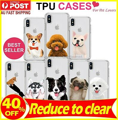 AU9.88 • Buy IPhone X XS Max XR 8 7 Plus Case Cute Puppy Dog Animal Clear Bumper Print Cover