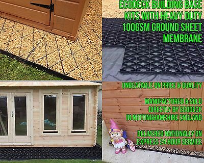 ECO SHED BASE GRID KIT ALL SIZE Eg 6x4 8x6 10x8 PLASTIC ECO SLAB GREENHOUSE Em • 1.32£