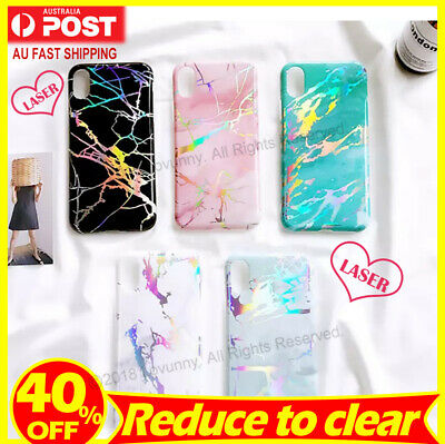 AU8.68 • Buy IPhone X XS 6s 7 8 Plus Case Marble Pattern Soft TPU Silicone Shockproof Cover