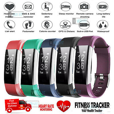 View Details Sports Fitness Tracker Watch Waterproof Heart Rate Activity Monitor Fitbit Style • 25.99£