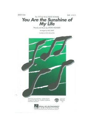 Stevie Wonder You Are The Sunshine Of My Life SAB VOCALS SHEET MUSIC BOOK • 14.39£