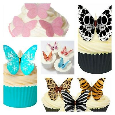 £2.99 • Buy Edible Wafer Butterflies - Cake Decorations - MULTI LISTING