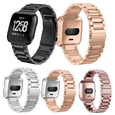 $ CDN14.73 • Buy 316L Stainless Steel Bracelet For Fitbit Versa Watch Strap Metal Band Quick Pins