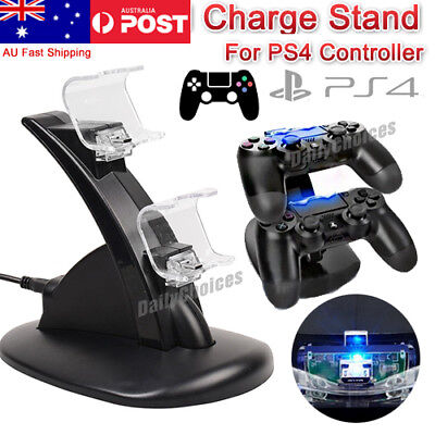 AU17.45 • Buy Stand For Sony PS4 Playstation Controller Dual Charger Dock Charging Cable AUS