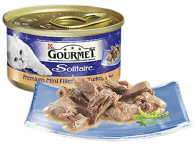 Gourmet Solitaire Can Premium Fillets Turkey In Sauce 85g (Pack Of 12) • 19.53£
