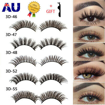 AU6.49 • Buy 20Pairs 3D Natural Fake Eyelashes Long Thick Mixed False Eye Lashes Makeup Mink