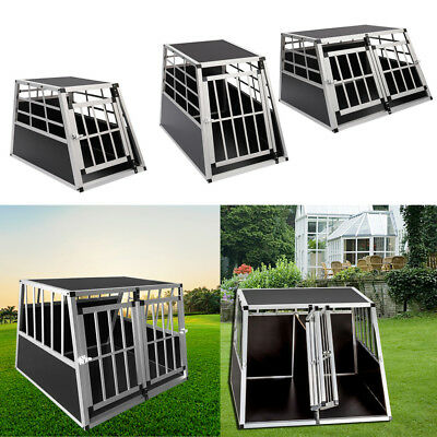 View Details Sturdy Metal Dog Cage Crate Black Pet Carrier Car Truck Animal Transport Box UK • 75.95£