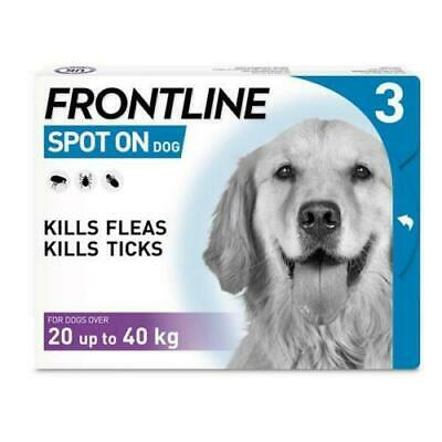 £19.99 • Buy Frontline Spot On For Large Dogs | Flea & Tick Treatment | 3 Pipettes AVM-GSL