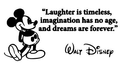 Mickey Mouse Wall Art Vinyl Decal Sticker Quote • 3.50£