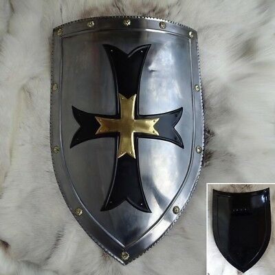Crusader Heater Shield, 18 Gauge Steel .Perfect For Stage Combat Or Re-enactment • 84.99£