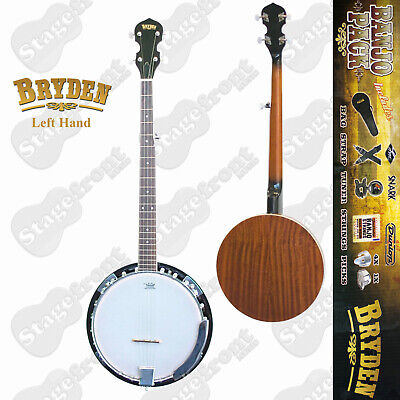 AU389 • Buy Bryden 5 String Left Hand Banjo Ultimate Beginners Pack Includes Accessories