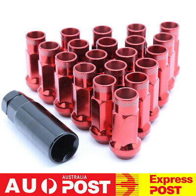 AU31.66 • Buy 20PC Red Open Ended Steel Wheel Lug Nuts With Adapter M12x1.25 For Subaru Suzuki