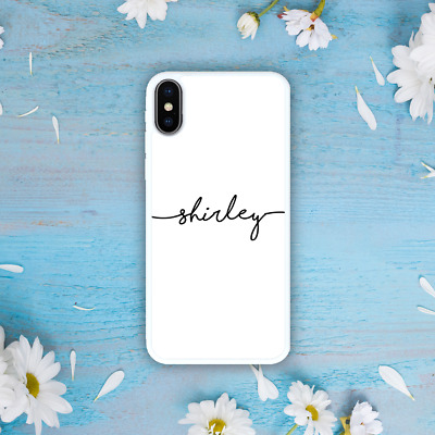 AU11.99 • Buy IPhone 8 Plus 7 6S 6 Galaxy Note 9 S9 S7 Case Personalised Custom Initial Name