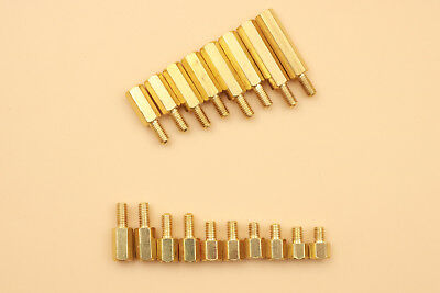 $5 • Buy 100Pcs Brass Hexagonal Female To Male Nut M3 PCB Board Standoff/Spacer