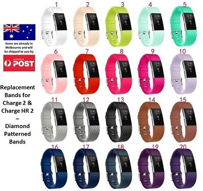 AU8.95 • Buy New Replacement Silicone Wrist Band For Fitbit Charge 2 / Charge HR 2