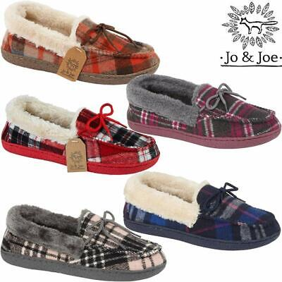 Ladies Moccasins Slippers New Faux Sheepskin Fur Memory Foam Warm Winter Shoes • 12.99£